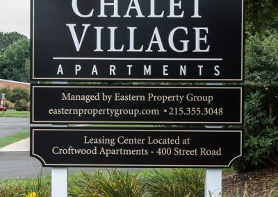 Chalet Village Exterior Sign
