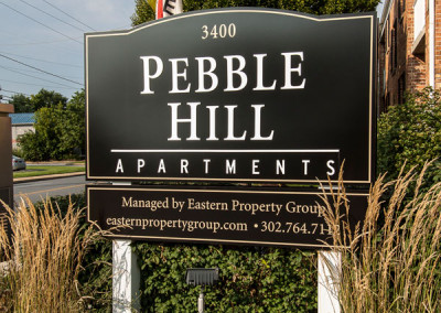 Pebble Hill Exterior Sign