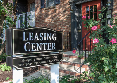 Pebble Hill Leasing Center Sign